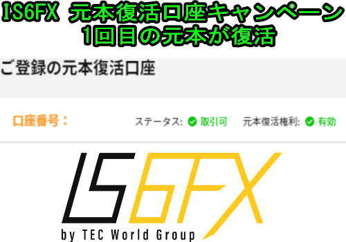 IS6FX 元本復活後を使った感想