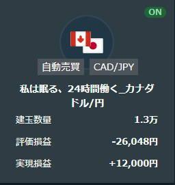 21年2月私は眠る、24時間働く_カナダドル円取引結果