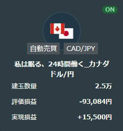 21年3月私は眠る、24時間働く_カナダドル円取引結果