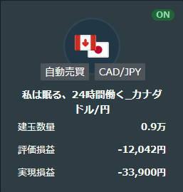 21年4月私は眠る、24時間働くカナダドル円取引履歴