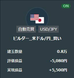 21年4月米ドル円の買いループイフダン取引結果2